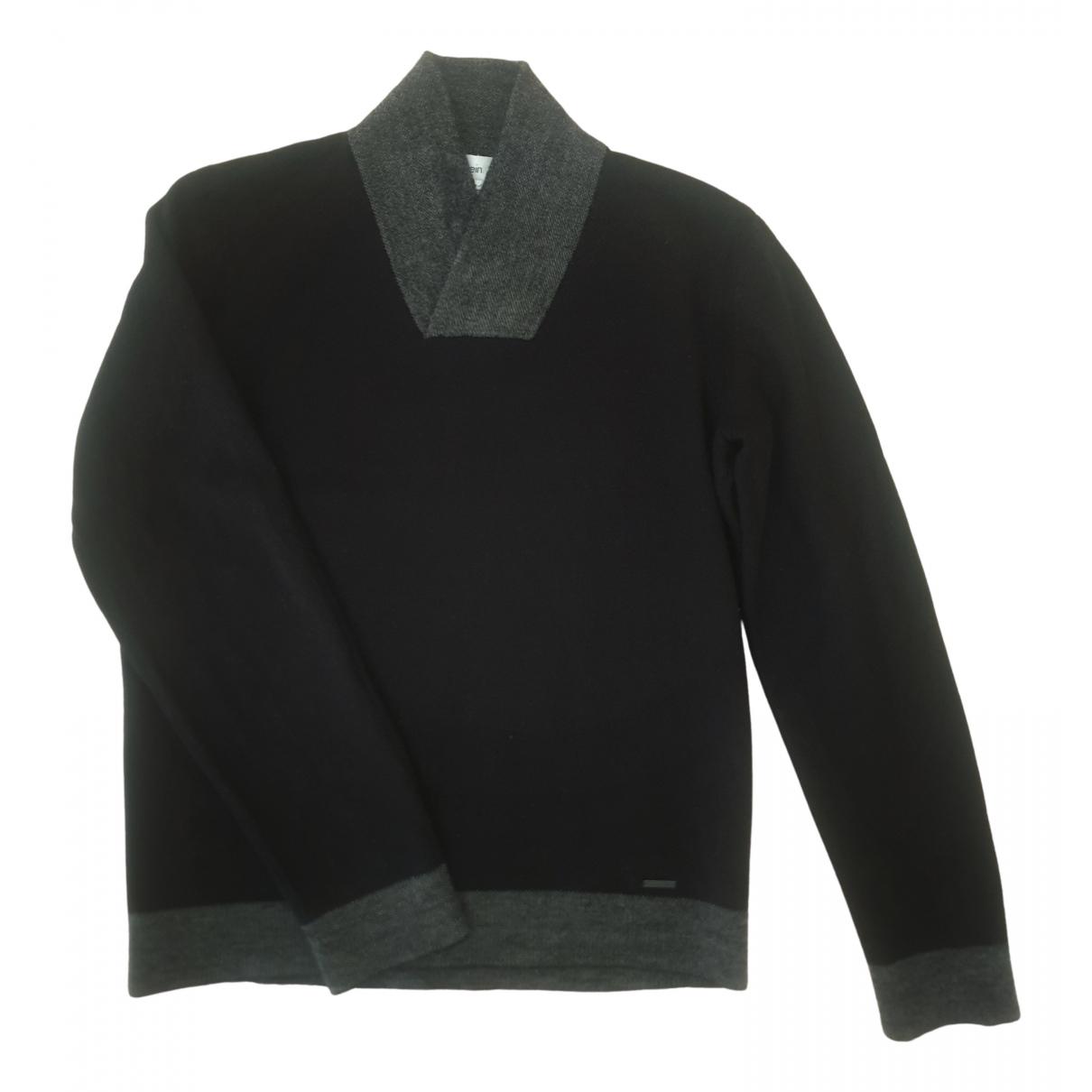 Calvin Klein - Pull   pour femme en laine - noir