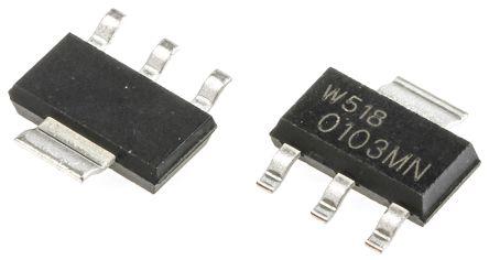 WeEn Semiconductors Co., Ltd Z0103MN,135 1A, 600V, TRIAC, Gate Trigger 1.3V 5mA, 4-pin, Surface Mount, SOT-223 (SC-73) (20)