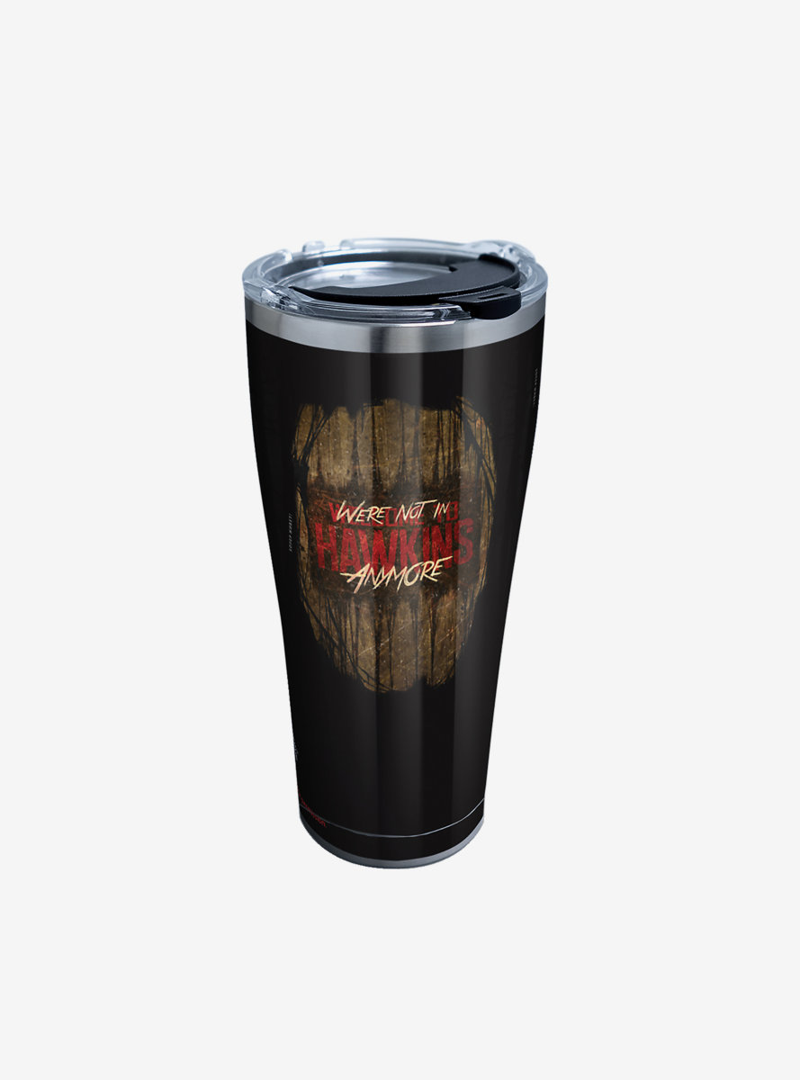 Stranger Things Hawkins Montage 30oz Stainless Steel Tumbler With Lid