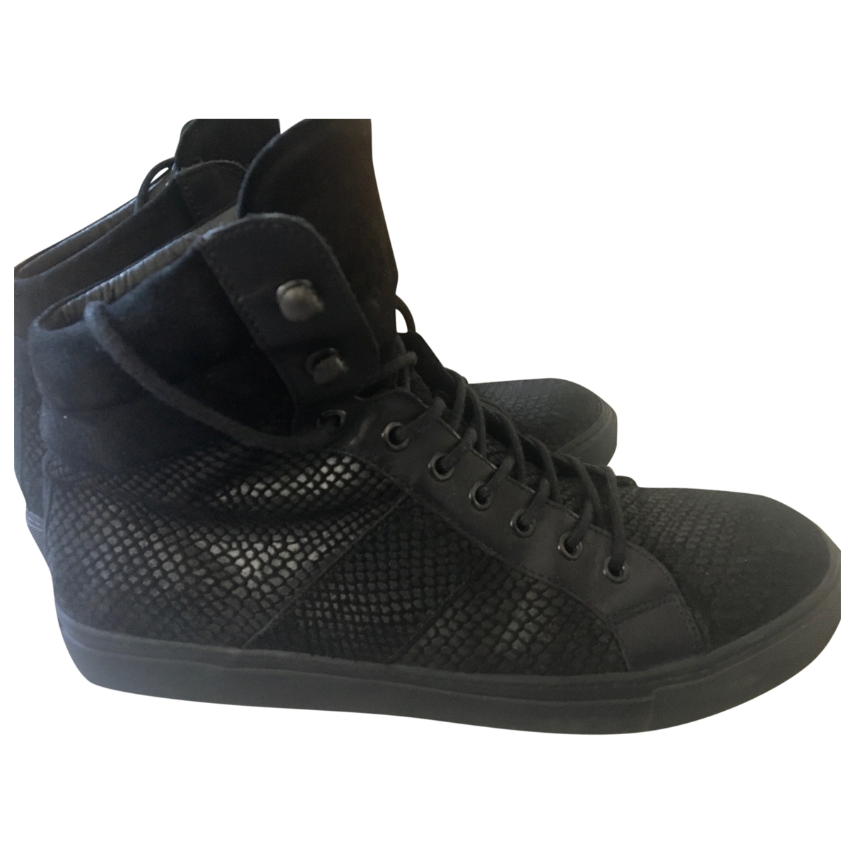 The Kooples \N Black Leather Trainers for Men 45 EU