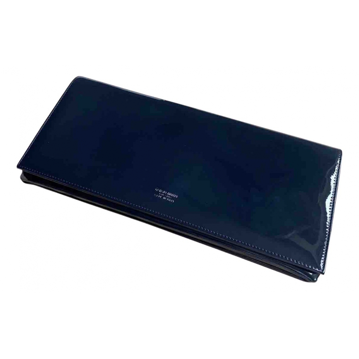 Giorgio Armani N Navy Patent leather Clutch bag for Women N