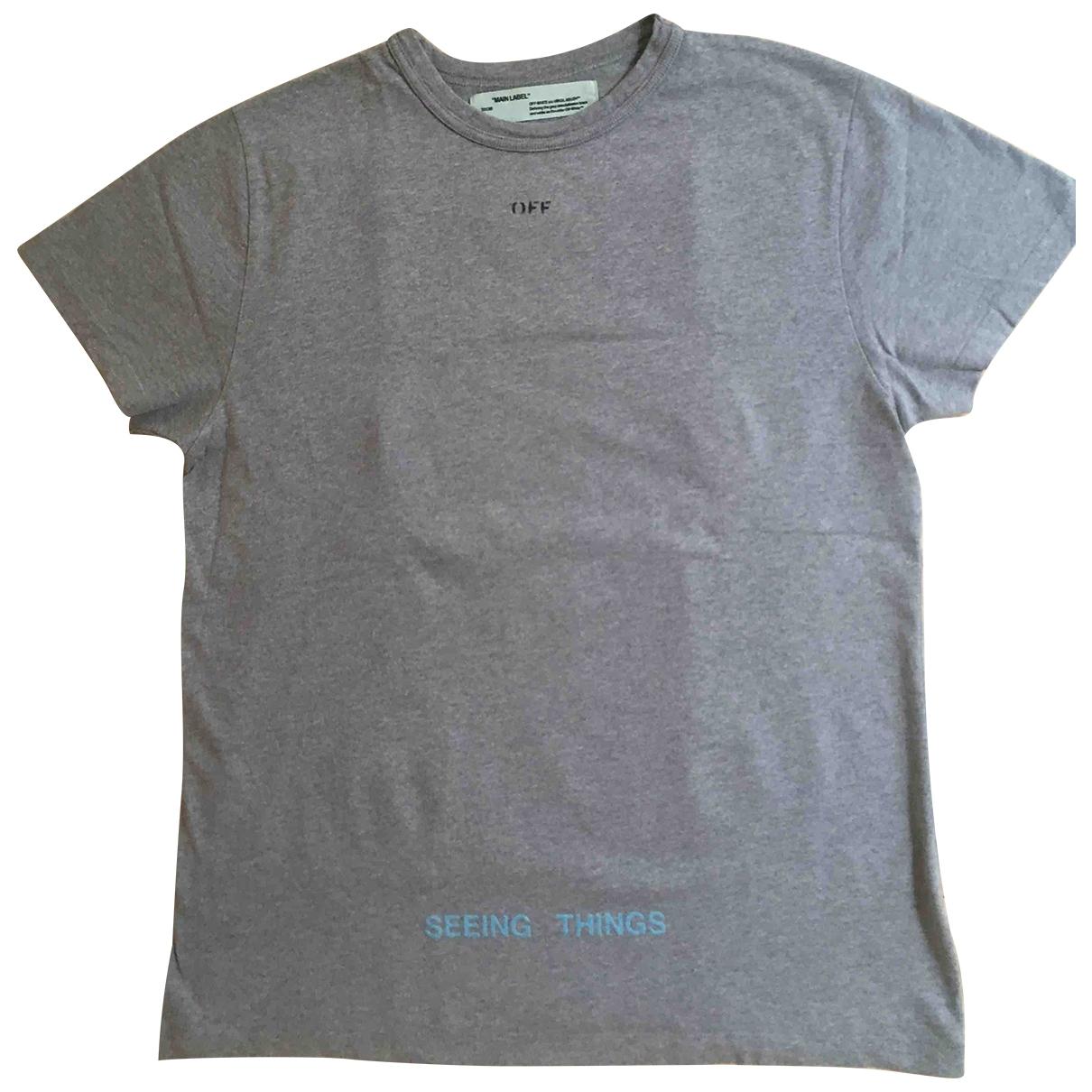 Off-white \N T-Shirts in  Grau Baumwolle
