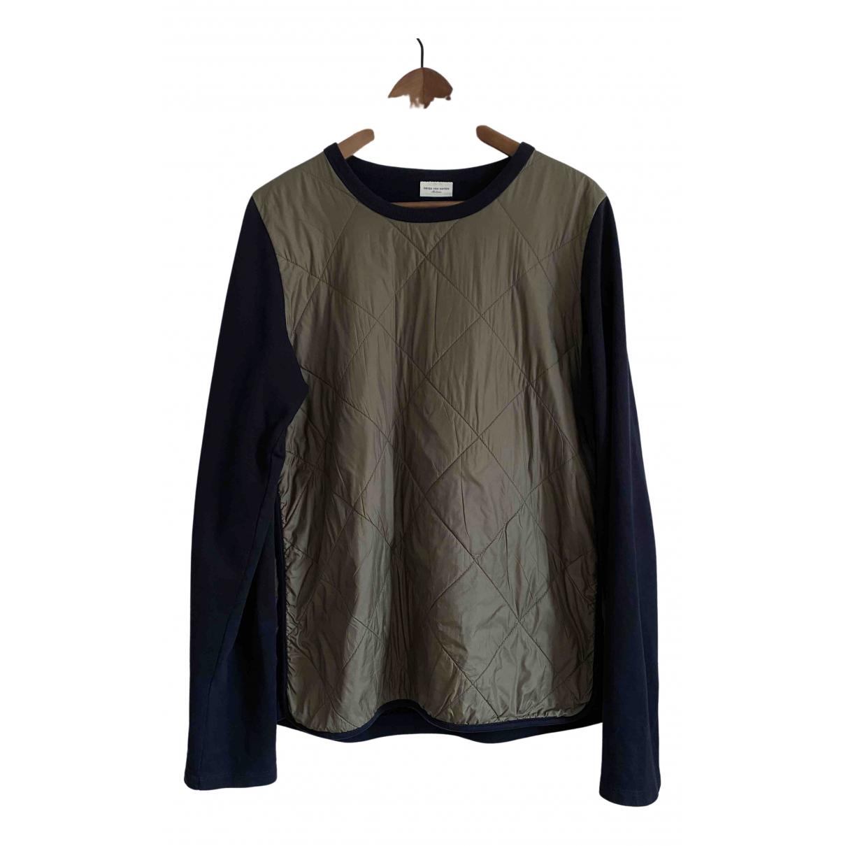 Dries Van Noten \N Pullover.Westen.Sweatshirts  in  Marine Baumwolle