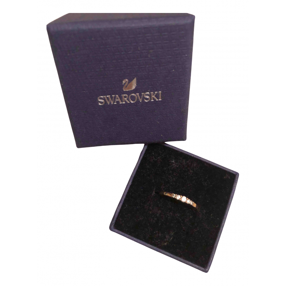 Swarovski - Bague   pour femme en argent - dore