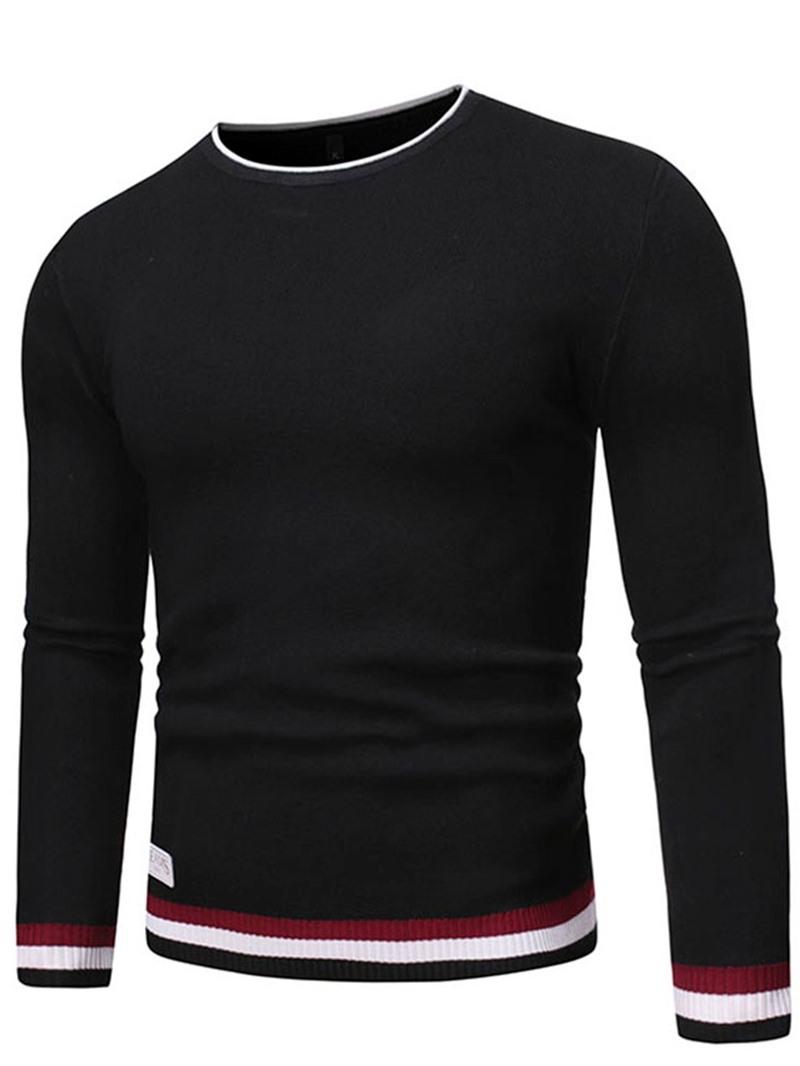 Ericdress Round Neck Standard Color Block Winter Slim Sweater