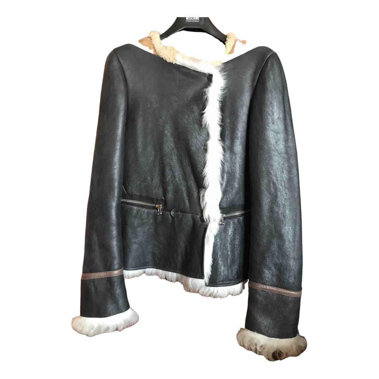 3.1 Phillip Lim N Black Leather Leather jacket for Women 42 IT