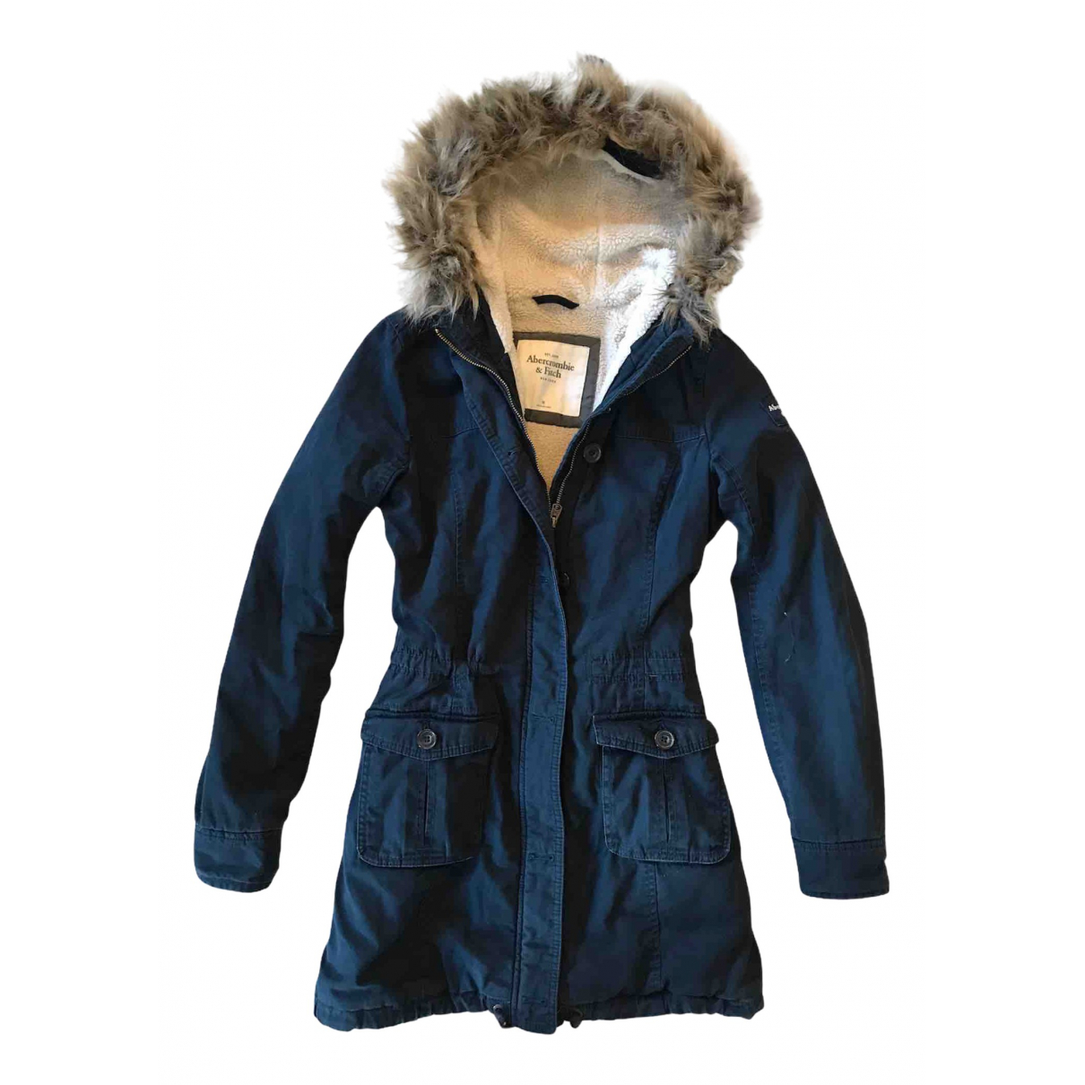 Abercrombie & Fitch N Blue Cotton coat for Women M International