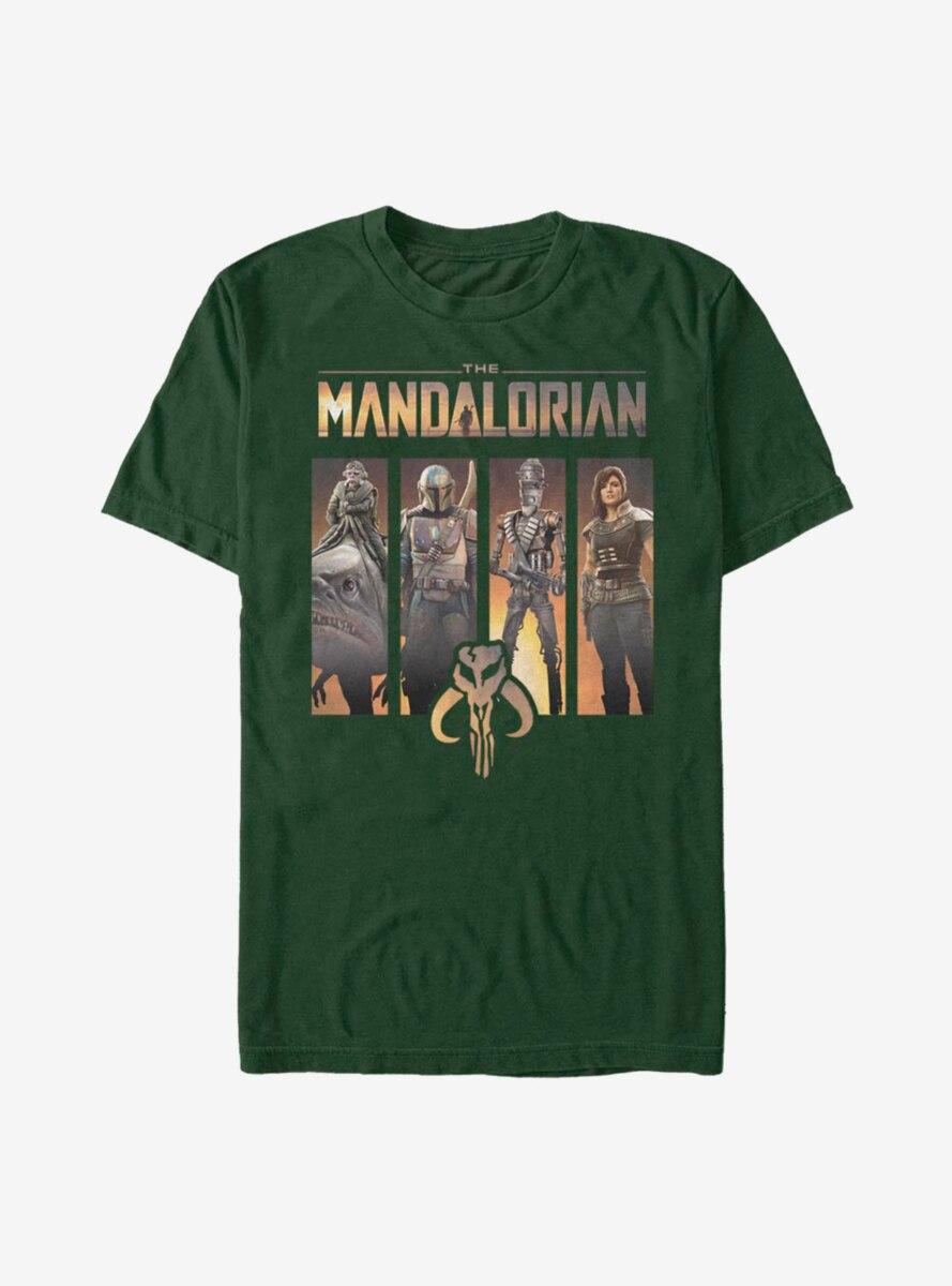 Star Wars The Mandalorian Character Panels T-Shirt