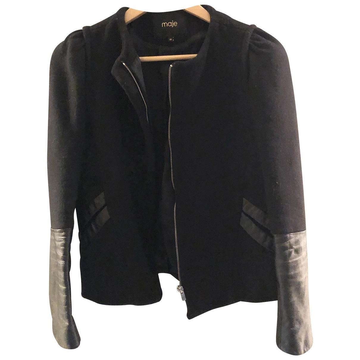 Maje \N Black Wool jacket for Women 38 FR