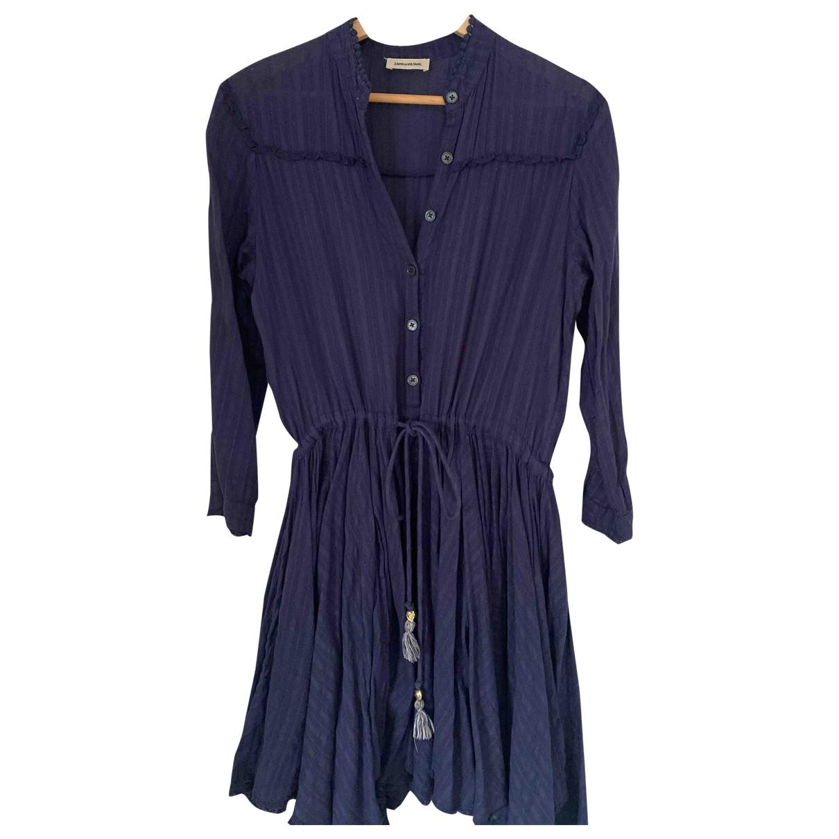 Zadig & Voltaire \N Kleid in  Marine Baumwolle