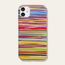 1pc Colorful Striped iPhone Case