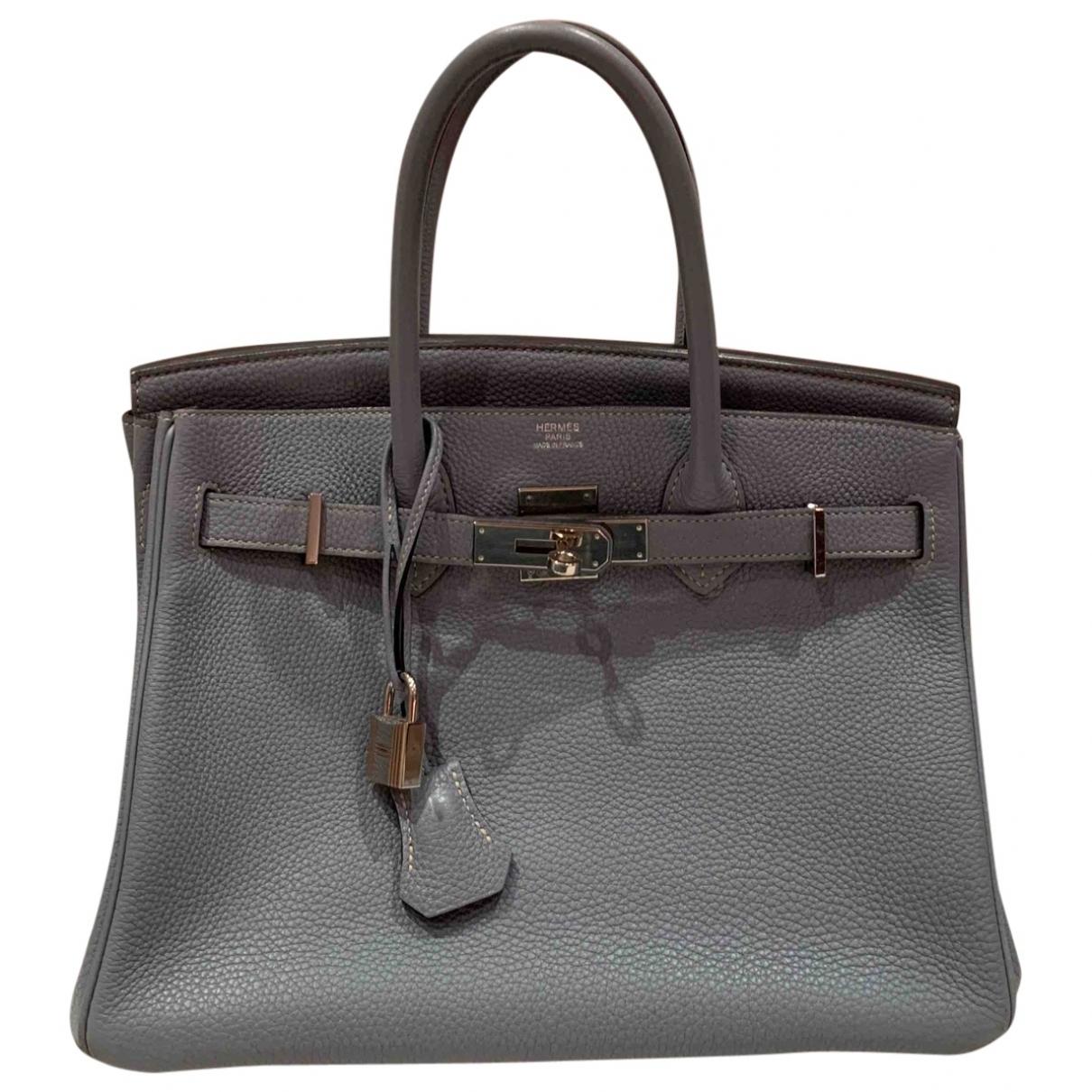 Hermès Birkin 30 Grey Leather handbag for Women \N