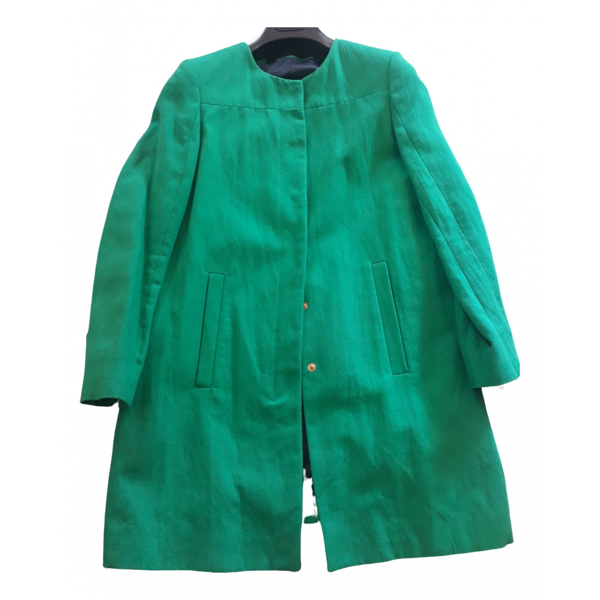 Zara \N Green Cotton jacket for Women 42 IT