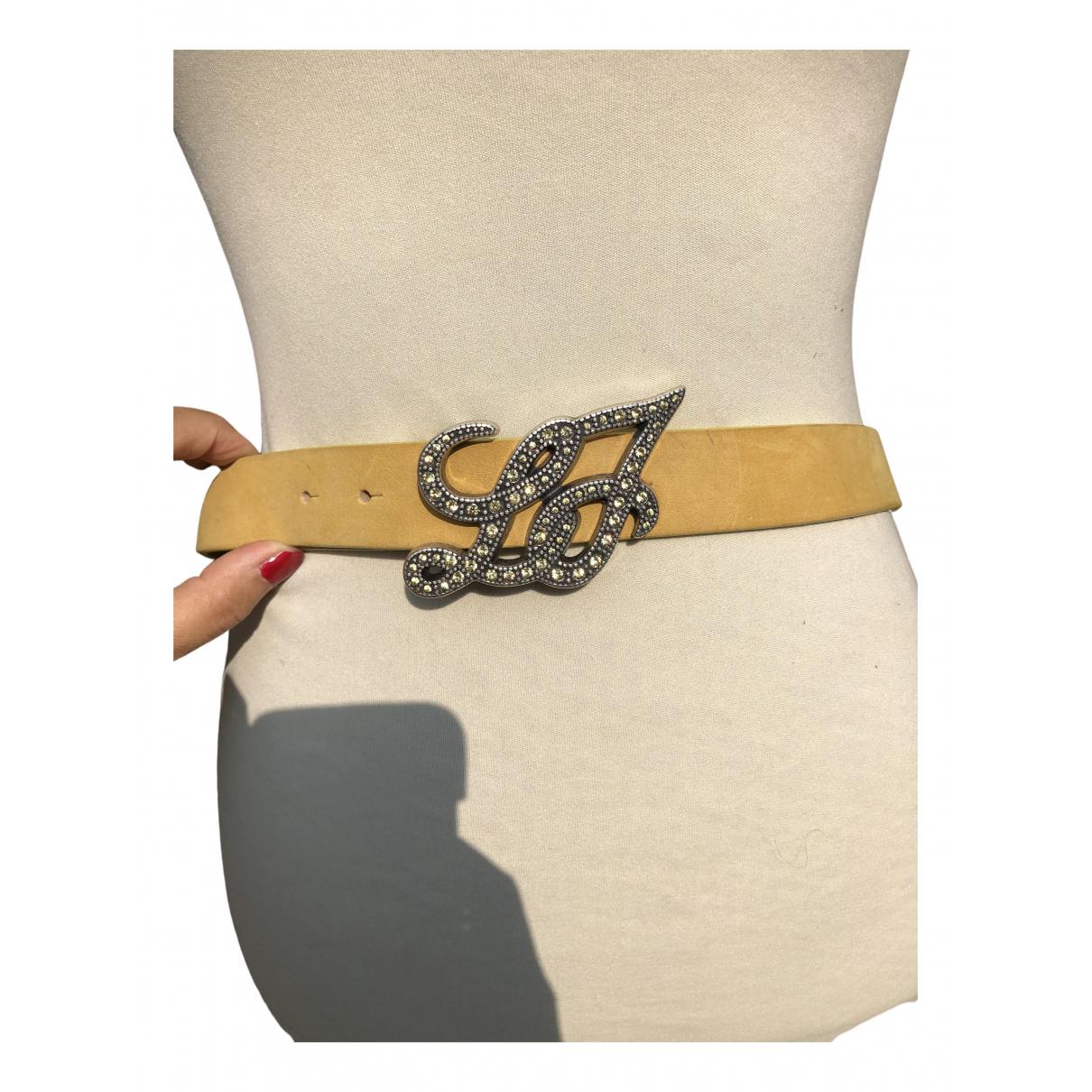 Liu.jo - Ceinture   pour femme en cuir - jaune