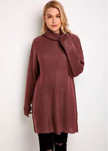 Trendy Pullover Turtleneck Long Sleeve Sweater - 2XL