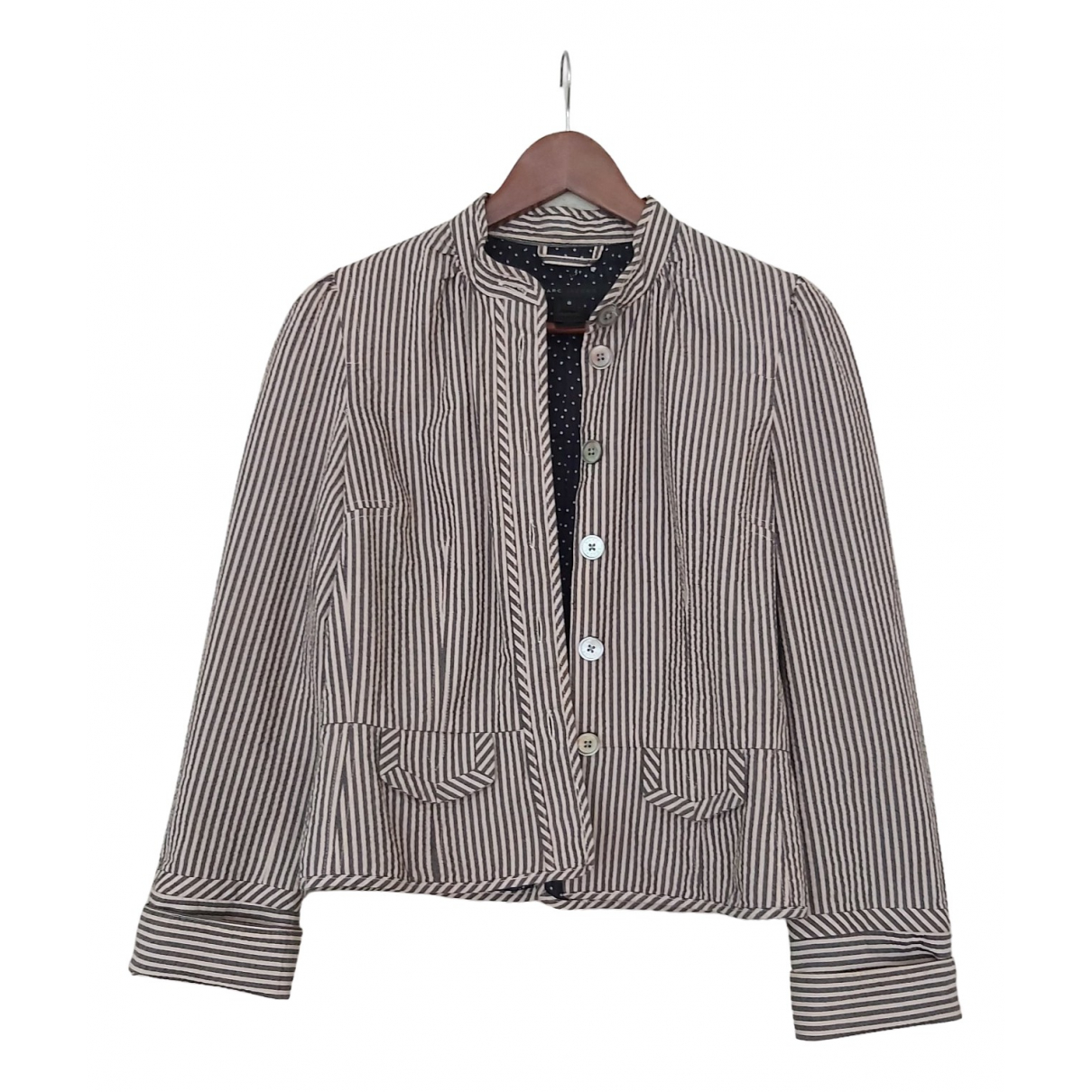 Marc Jacobs \N Grey Cotton jacket for Women 8 US