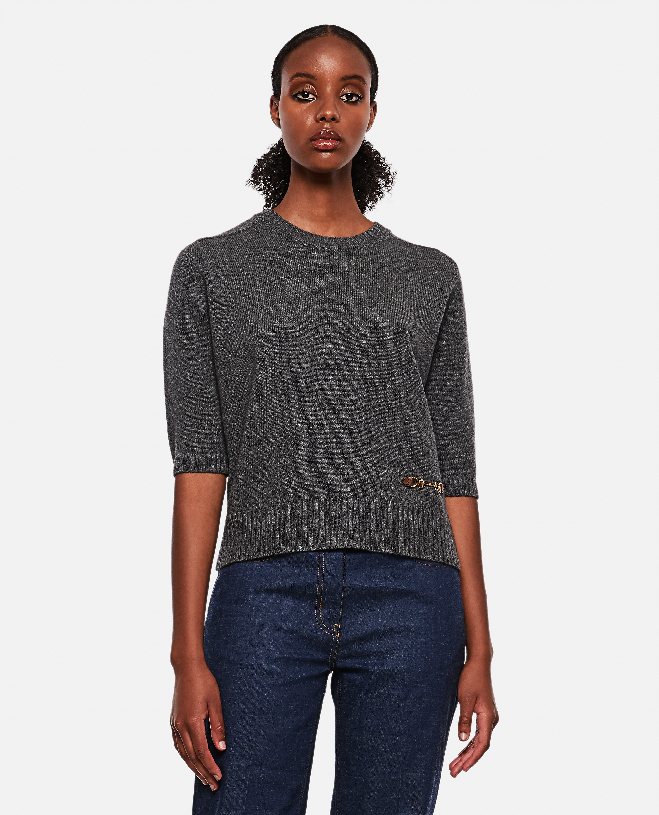 Cashmere sweater with Horsebit