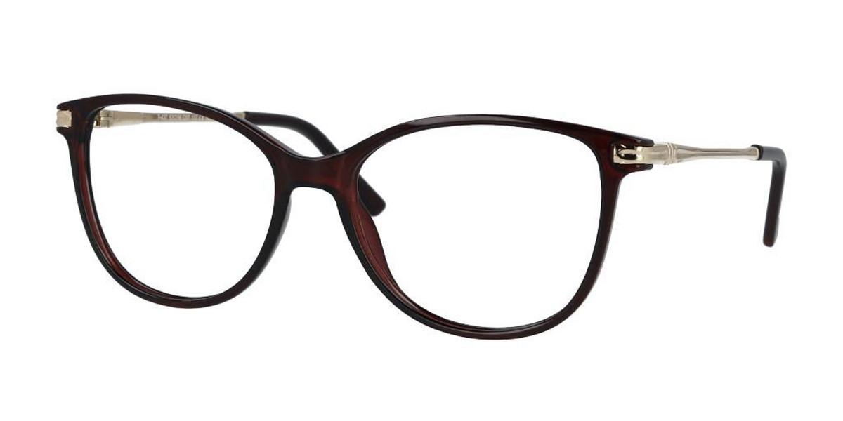 Cat Eye Full Rim Plastic Women's Glasses Discount Online Brown Size 53, Free Lenses, HSA/FSA Insurance, Blue Light Block Available - SmartBuy Collec