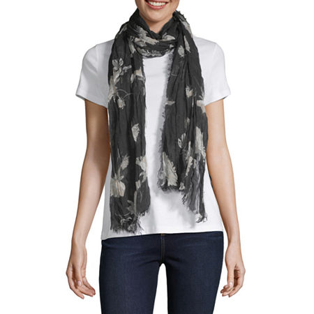 Mixit Light-Weight Oblong Scarf, One Size , Black