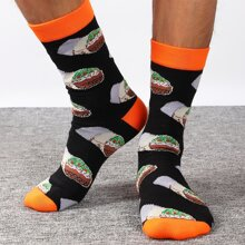 Maenner Socken mit Snack Muster