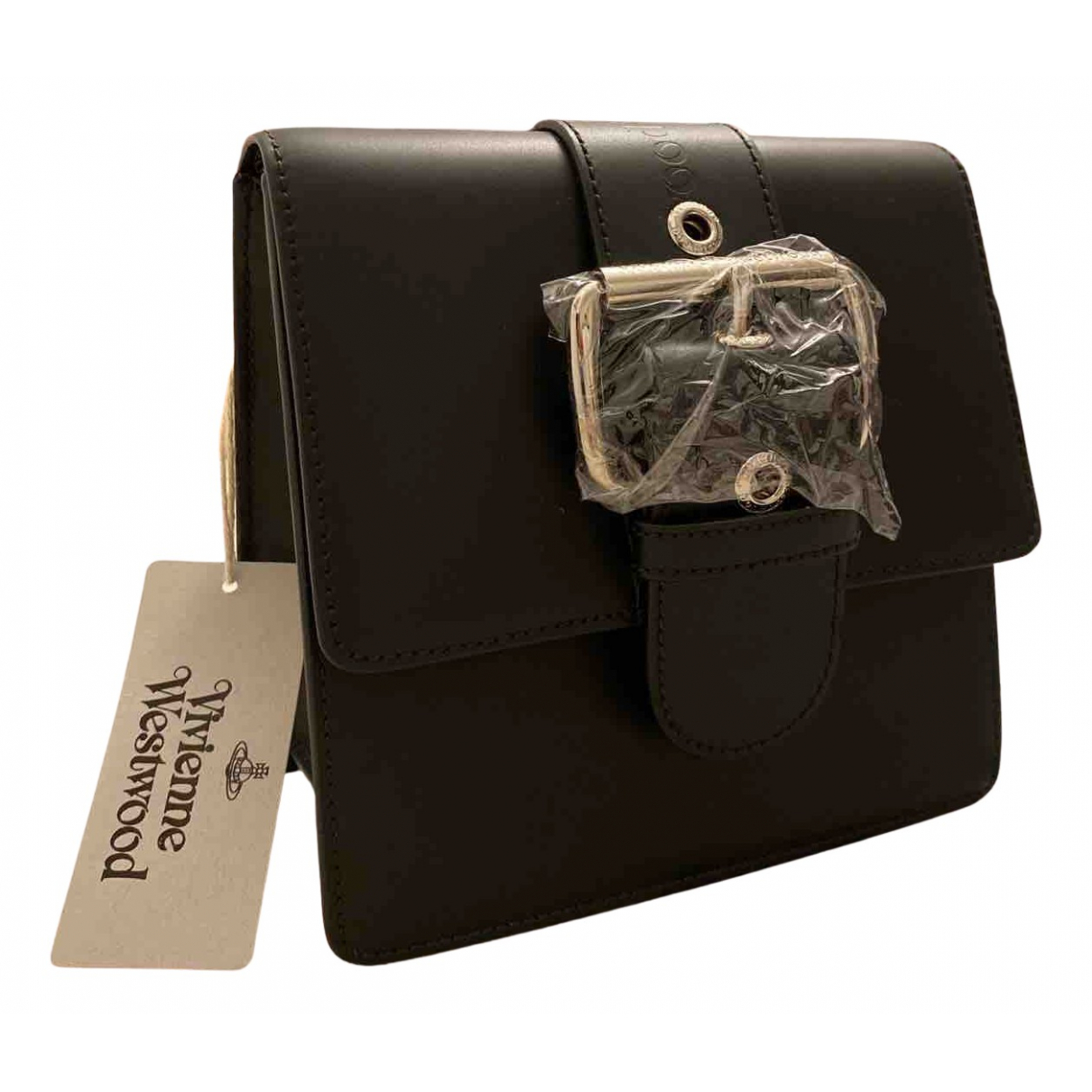 Vivienne Westwood - Pochette   pour femme en cuir - noir