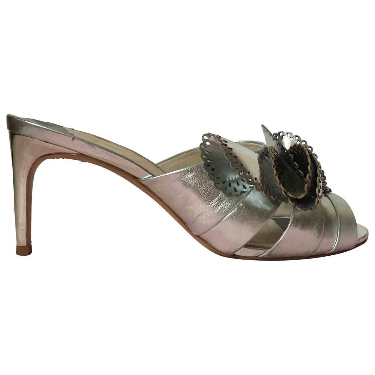 Sophia Webster \N Silver Leather Sandals for Women 38.5 EU
