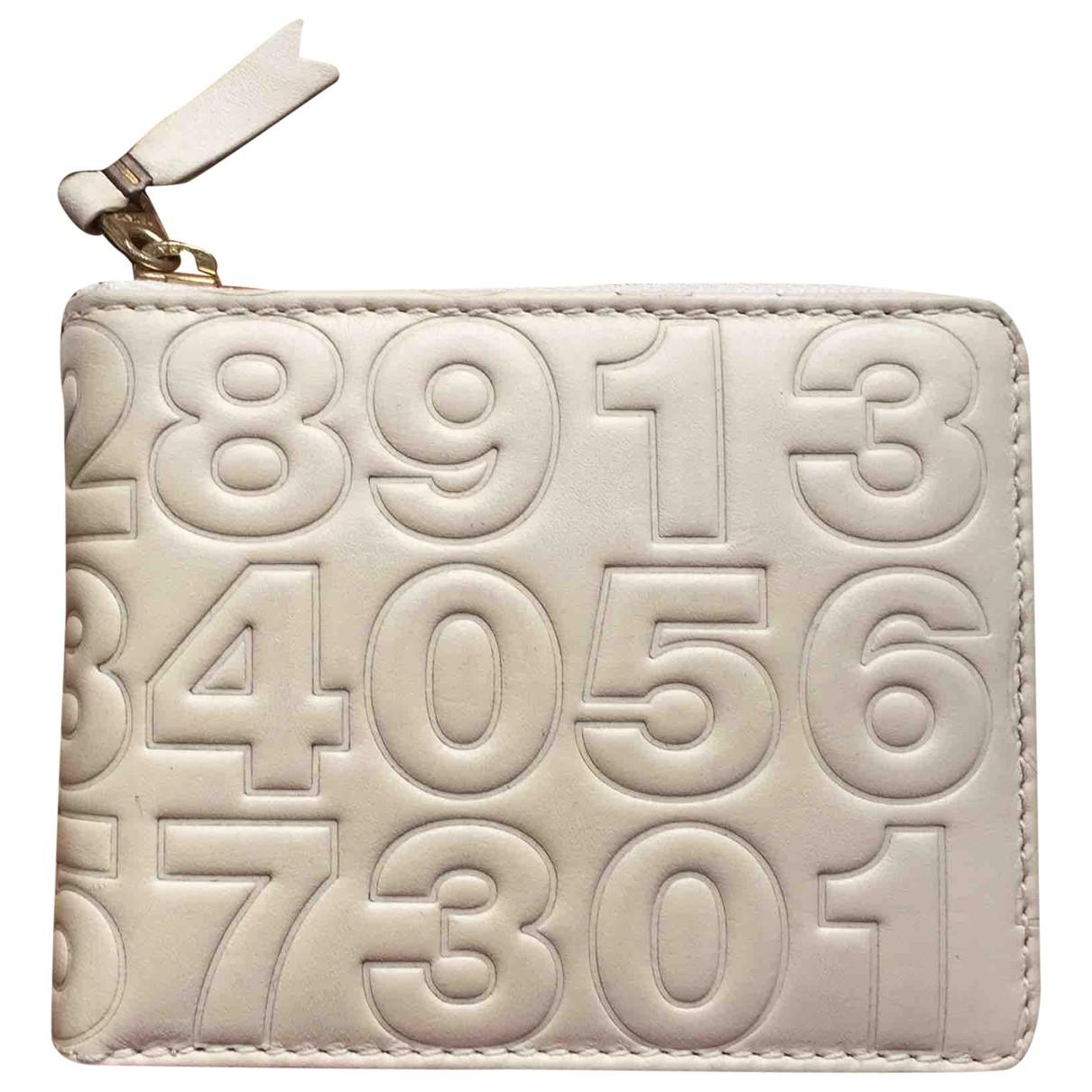 Comme Des Garcons \N Beige Leather Small bag, wallet & cases for Men \N