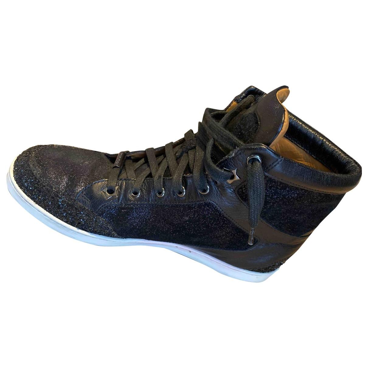 Jimmy Choo - Baskets   pour femme en a paillettes - bleu