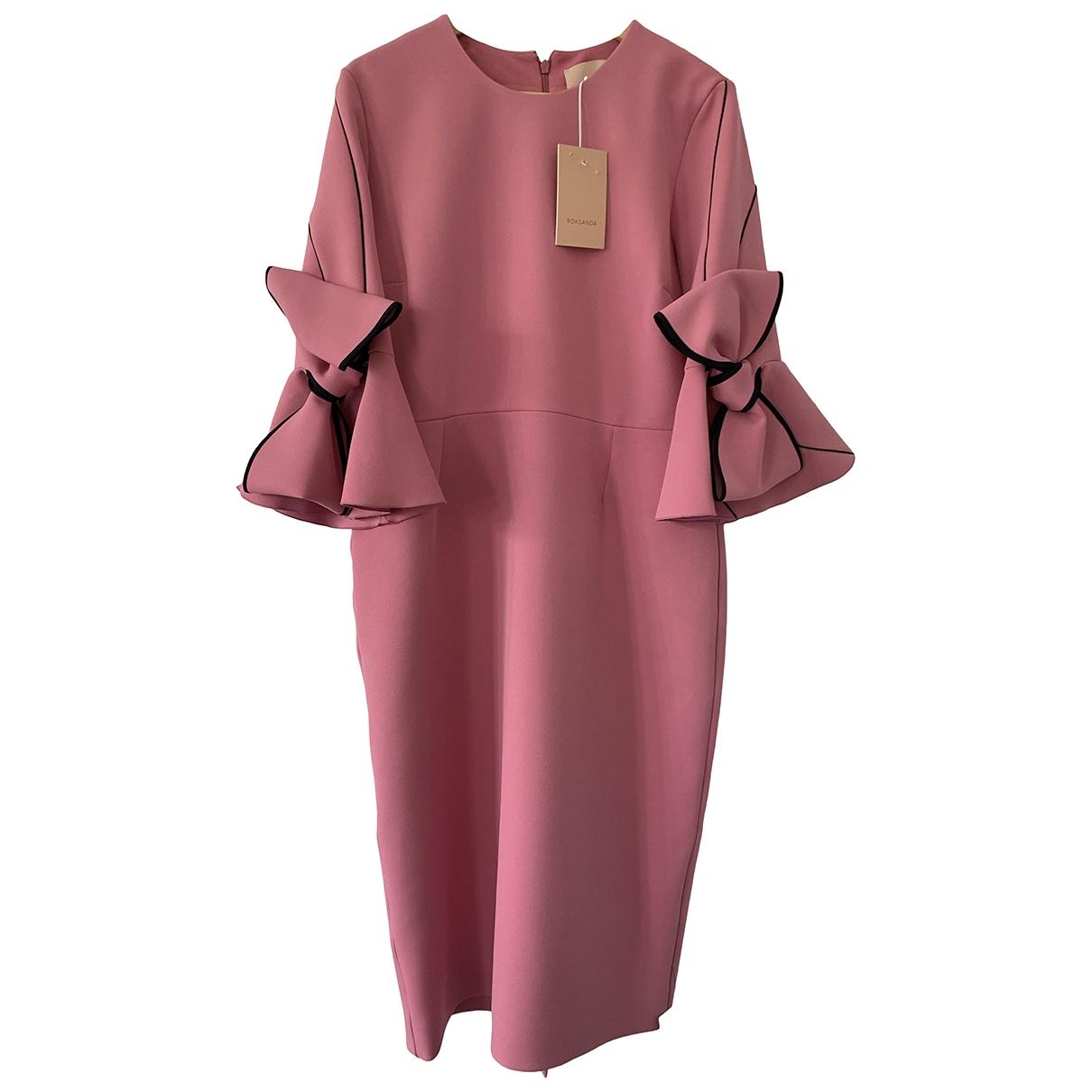 Roksanda \N Kleid in  Rosa Polyester