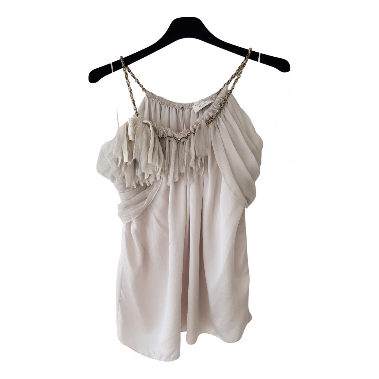 Lanvin - Top   pour femme en soie - gris