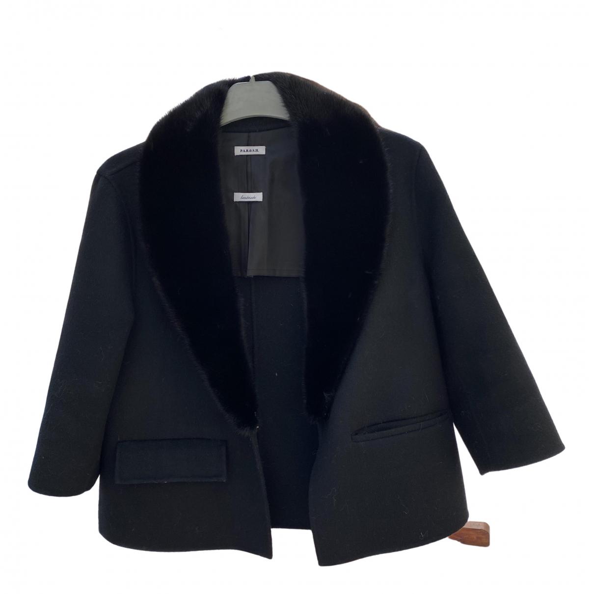 Parosh - Veste   pour femme en vison - noir