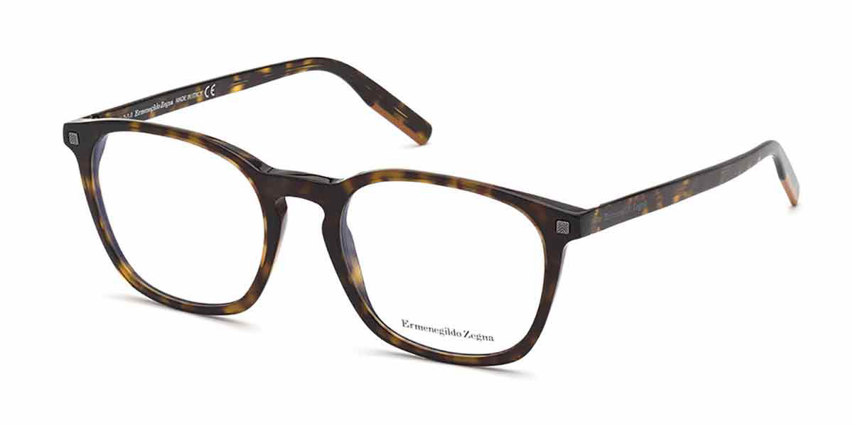Ermenegildo Zegna EZ5202 052 Men's Glasses Tortoise Size 53 - Free Lenses - HSA/FSA Insurance - Blue Light Block Available