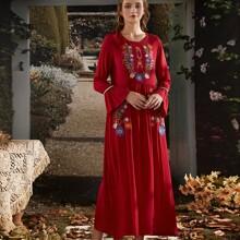 Vestidos Volante rigido Floral Bohemio