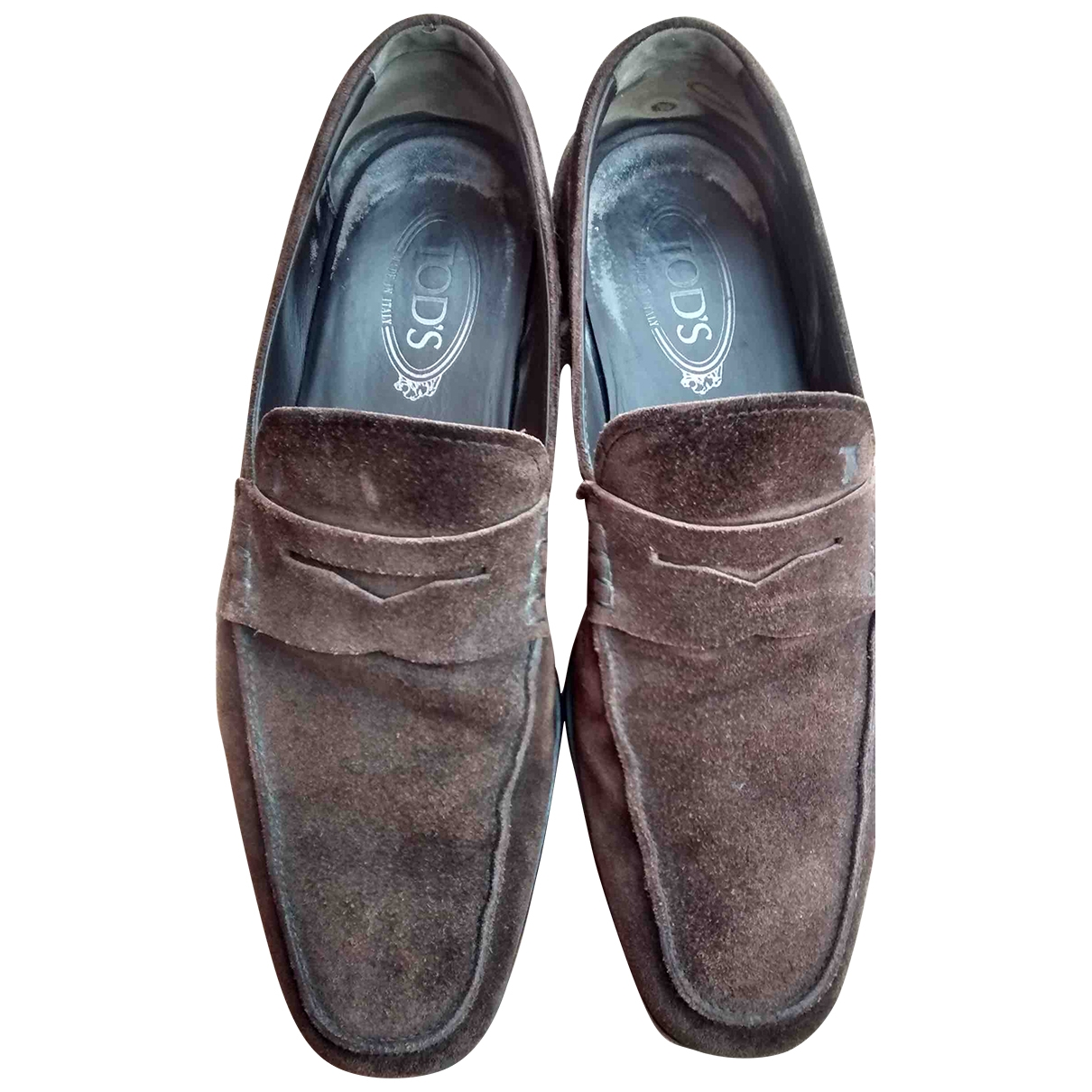 Tod's \N Brown Suede Flats for Men 8 UK