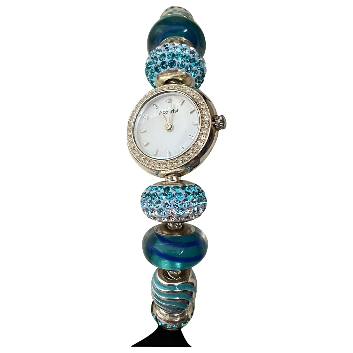 Non Signé / Unsigned \N Blue Steel watch for Women \N