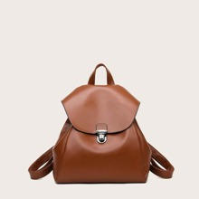 Push Lock Flap Backpack