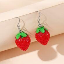 Strawberry Design Drop Earrings