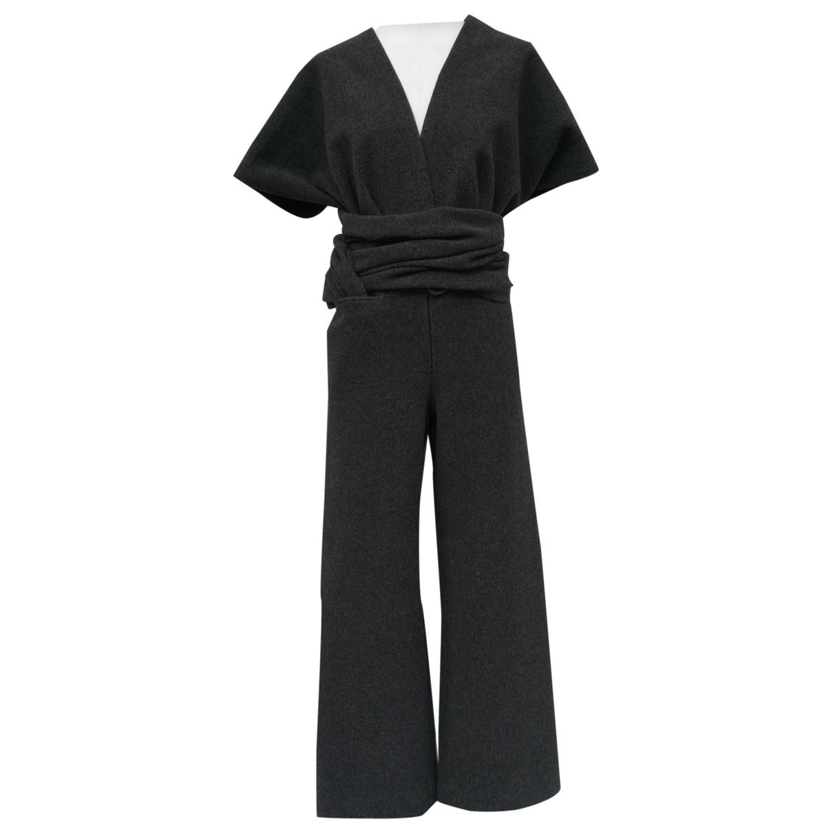 Yohji Yamamoto - Combinaison   pour femme en laine - anthracite