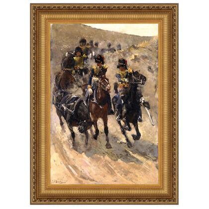 DA4924 32X48 The Yellow Riders 1886