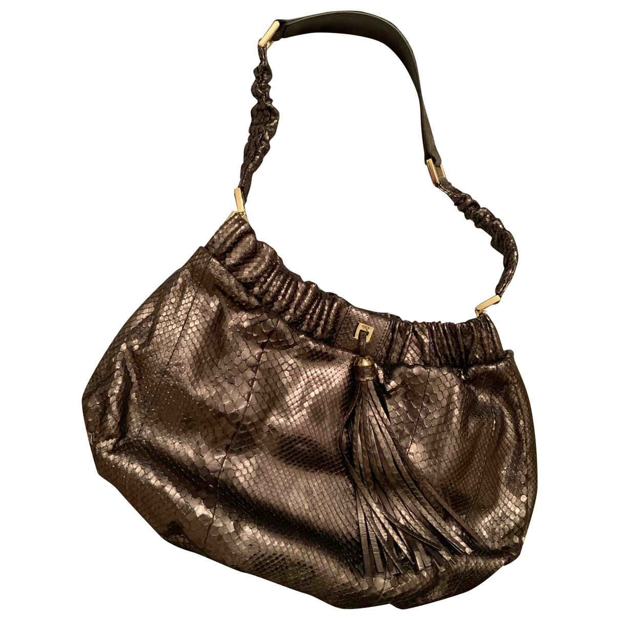 Anya Hindmarch \N Handtasche in  Silber Python
