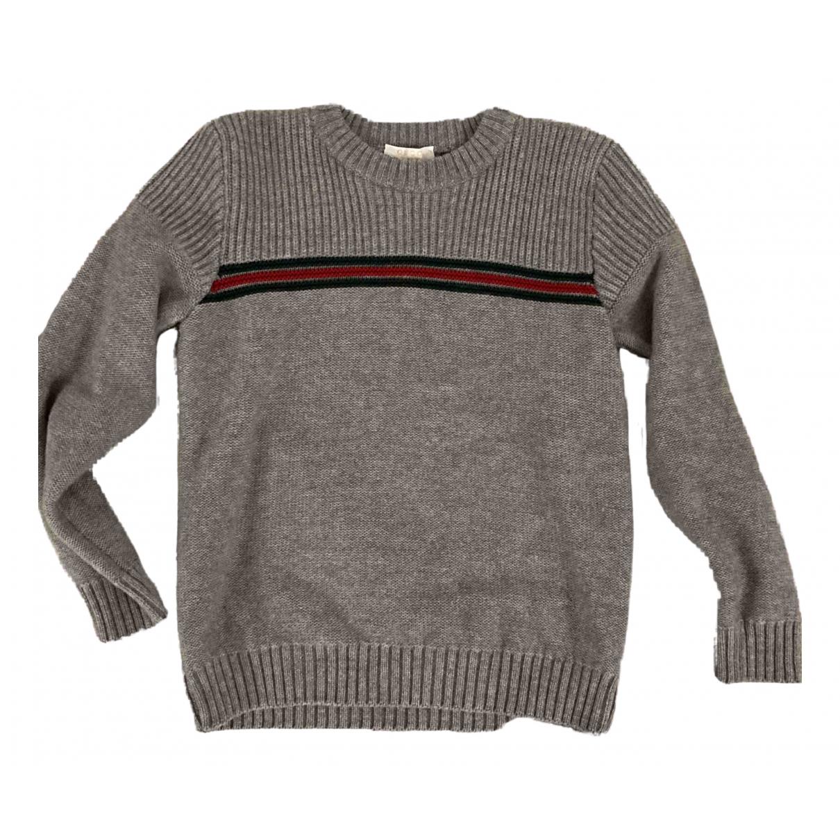 Gucci - Pull   pour enfant en laine - anthracite