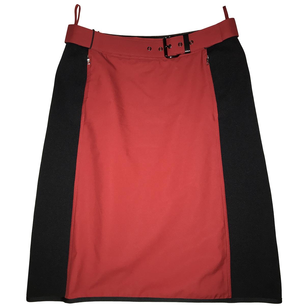 Prada \N Rocke in  Rot Polyester