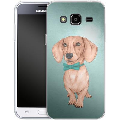 Samsung Galaxy J3 (2016) Silikon Handyhuelle - Dachshund the Wiener Dog von Barruf