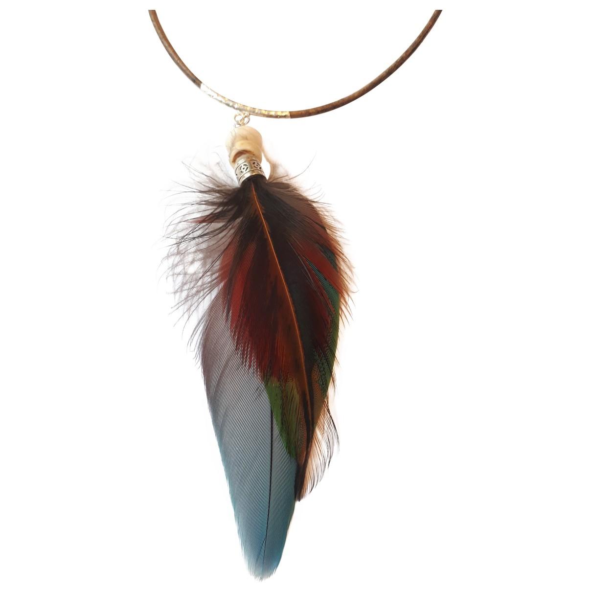 - Collier Motifs Ethniques pour femme en argent - multicolore