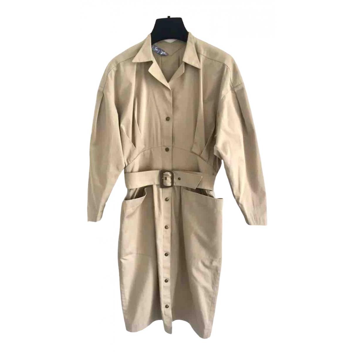 Thierry Mugler - Robe   pour femme en coton - beige