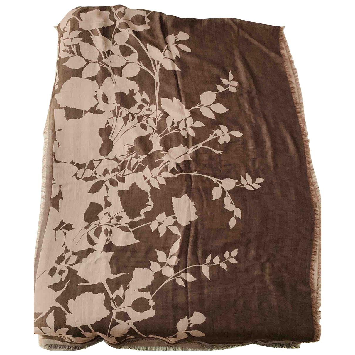 Elie Saab \N Brown Wool scarf for Women \N