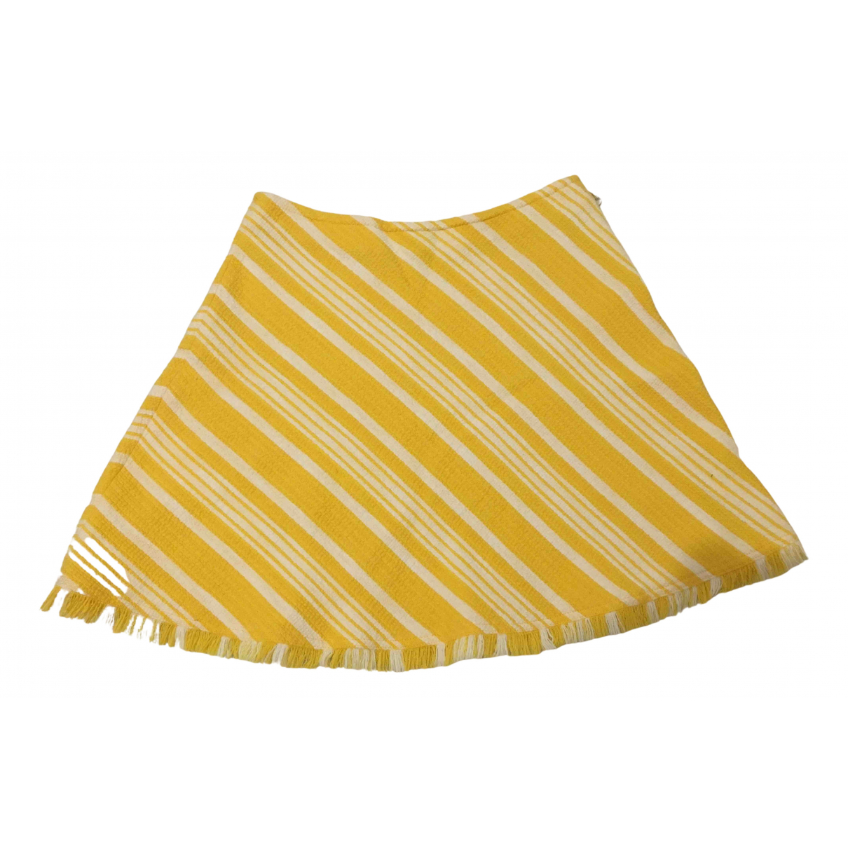 Max & Co N Yellow Cotton skirt for Women 36 FR