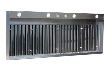 VW-04224-NB 42 XL Professional Wall Liner with Stainless Steel Baffle Filters  Halogen Lights  Light and Variable Speed Switches for External or
