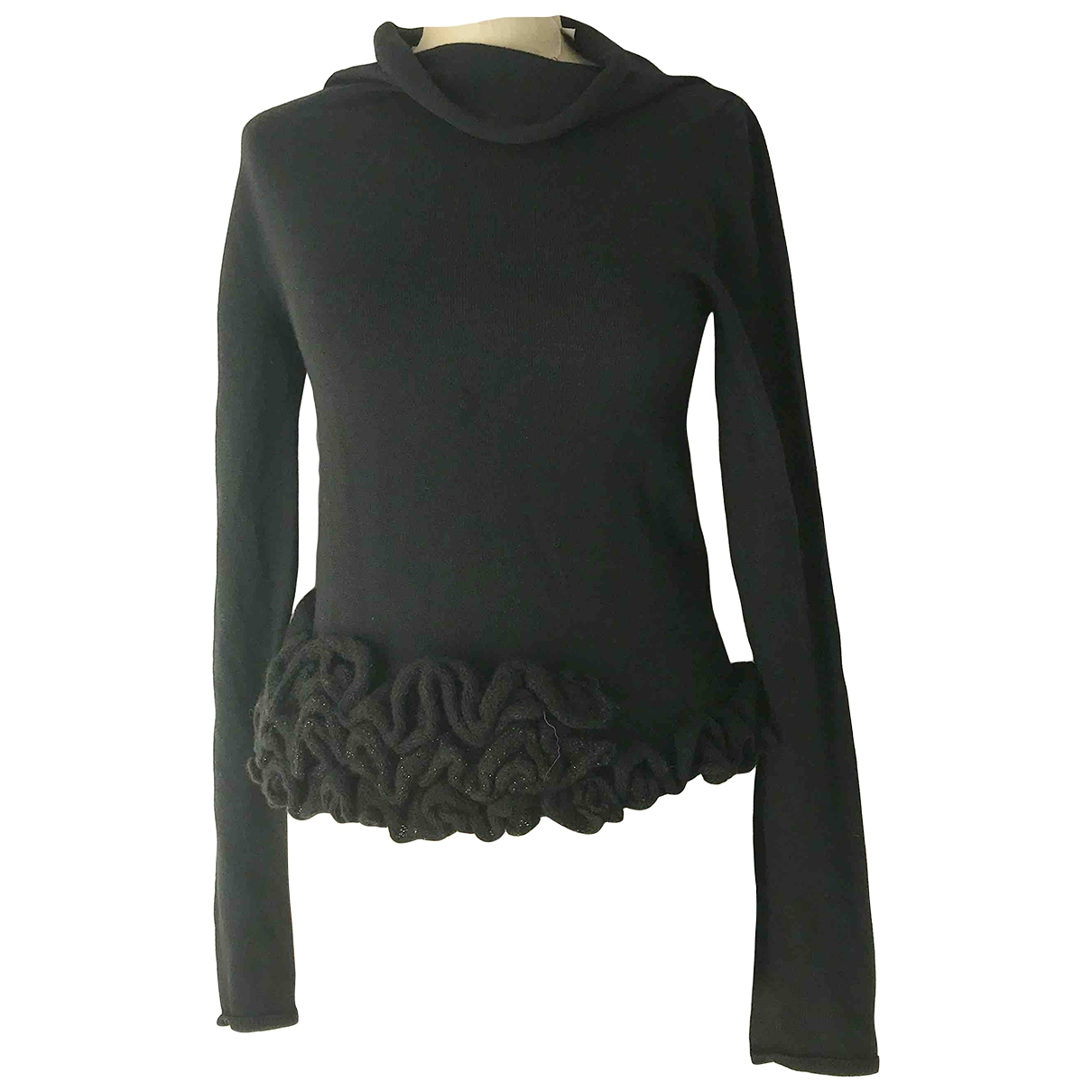 Non Signe / Unsigned \N Pullover in  Schwarz Wolle