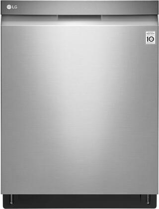 LDP6797ST Dishwasher Top Control With Pocket Handle Quadwash Glide Rail Stainless Interior Easyrack Plus 3rd Rack 44db in Stainless